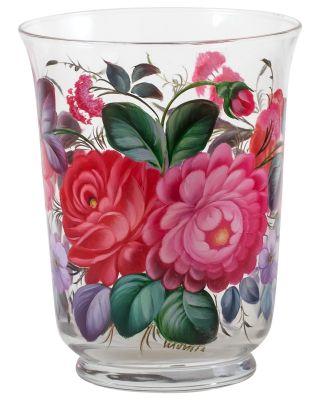 Zhostovo / Medium glass vase, author N. Klimova
