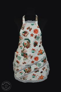 Apron kitchen linen New Year's