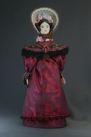 Doll gift porcelain. The lady in secular costume.1830 St. Petersburg