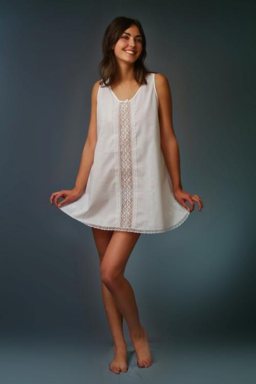 Shirt women's cotton two wide straps