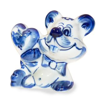 Sculpture in Love with the mouse, Gzhel Porcelain factory