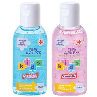 "Sanitelle / Gel antiseptic aroma ""Bubble Gum"" vitamin E 60 ml"