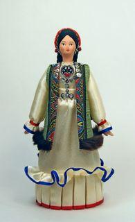 Doll gift porcelain. Maiden of the Bashkir national costume.