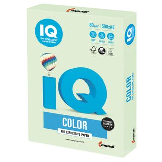 Paper I'color BIG FORMAT (297 x420 mm), A3, 80 g/m2, 500 sheets, pastel, light green