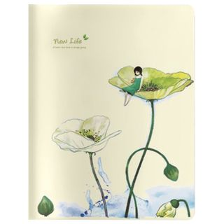 """Notebook EURO A5 40 sheets BV stitching, cage, Soft Touch, beige paper 70 g / m, """"DREAMING ELF"""""""
