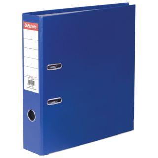 A file folder ESSELTE Economy, plastic-coating, 75 mm, blue