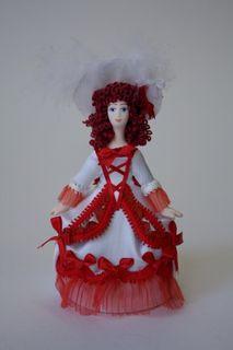 Doll gift. Lady in fancy dress