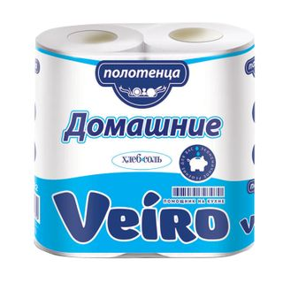 VEIRO / Household paper towels, white, 2-layer (2x12.5 m), soldering 2 pcs.