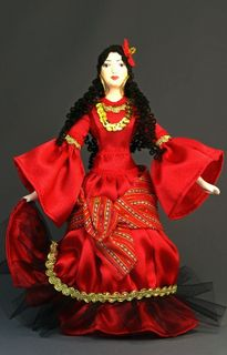 Doll gift porcelain. Carmen. Scenic image. 18 - 20th centuries Spain.