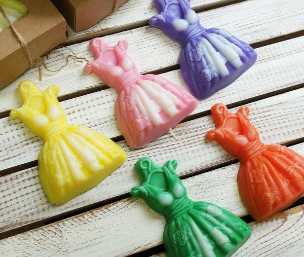 Handmade soap Dress - mix of colors