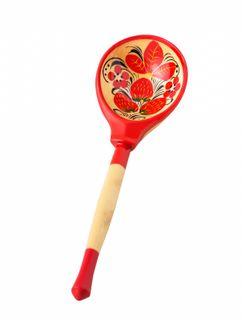 Khokhloma painting / Wooden artistic spoon