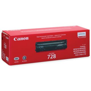 Laser cartridge CANON (728) MF4410 / 4430/4450 / 4550dn / 4570dn / 4580dn, original, yield 2100 pages.