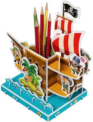 3D puzzle - pencil. The treasure ship