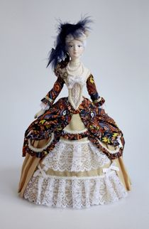 Doll gift. Lady in a secular suit to the 18th century, Baroque