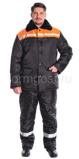 "Jacket ""Winter 2"" insulated, black + orange"