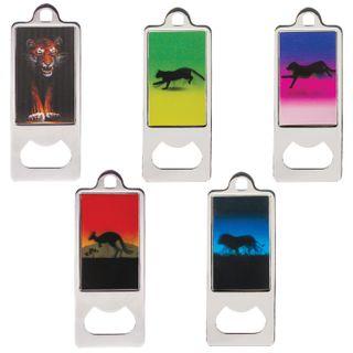 "BRAUBERG / Metal opener 36x96 mm, volumetric 3D-image, ""Animals"", assorted (5 types)"