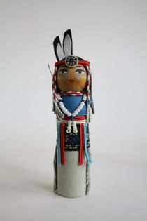 Doll gift. The Indian in the birthday suit. 20th century. USA.