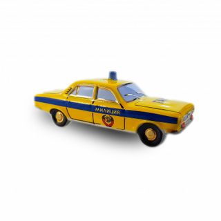 "Christmas tree toy ""GAZ 2410 Volga - GAI""yellow"