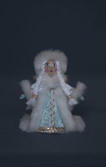 Nursery doll souvenir. Snow Maiden. Fairytale character. Wood, textile.