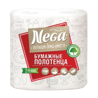 NEGA / White 2-layer paper towels, soldered 2 pieces (2x13.2 m)