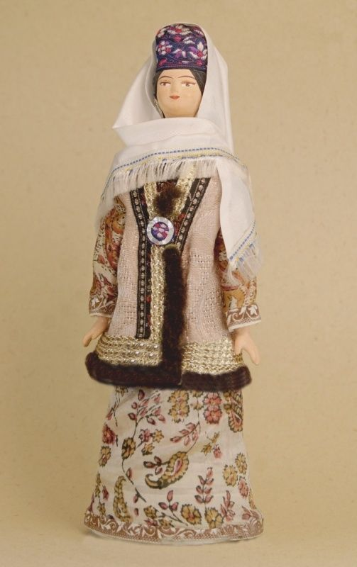 Doll gift porcelain. Kazan lips. Russia. Female Tatar costume. Late 19th - early 20th century.
