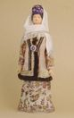 Doll gift porcelain. Kazan lips. Russia. Female Tatar costume. Late 19th - early 20th century. - view 1