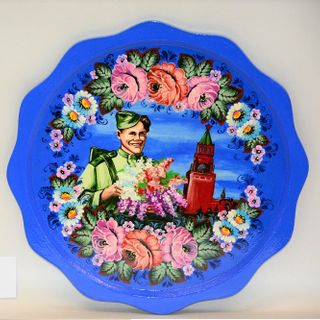 Panel for the holiday May 9 blue, Vyatka souvenir