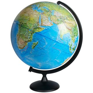 Physical globe with a diameter of 420 mm