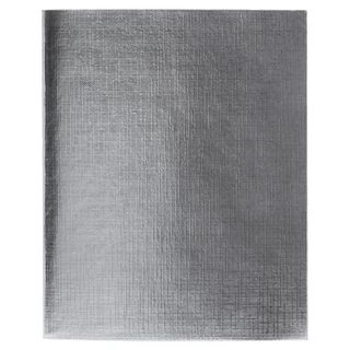 Notebook boomvinil A5, 96 sheets, staple, offset No1, line, with fields, SILVER Metallic, HATBER