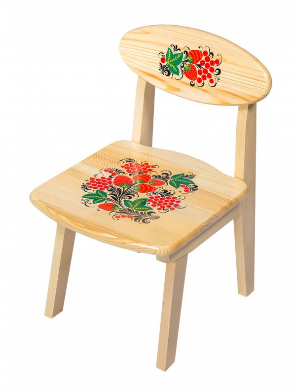 The wooden kids chair from an array of artistic painting, 1 growth category
