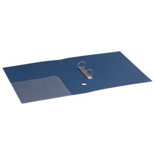 Folder on the 2 rings BRAUBERG Standard, 40 mm, blue, up to 300 sheets, 0.9 mm