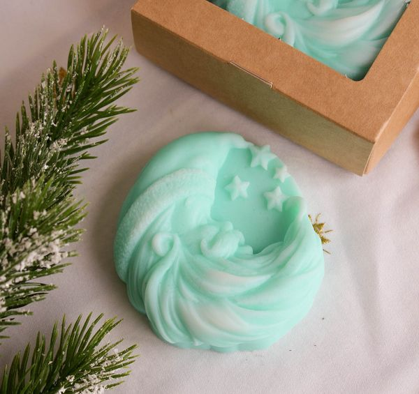Soap olive Christmas Month light cyan