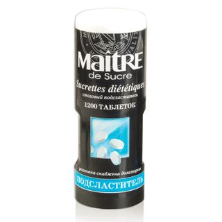 MAITRE / Sugar substitute (sweetener) in a plastic jar with a dispenser, 1200 pieces
