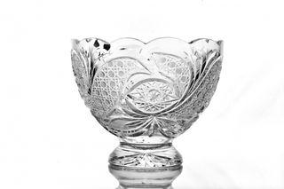"""Crystal vase for fruit """"Slava"""" colorless"""