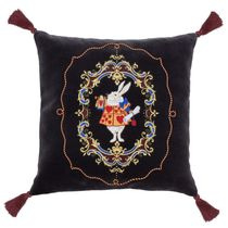 Pillow cushion, Rabbit grey in color with Golden embroidery