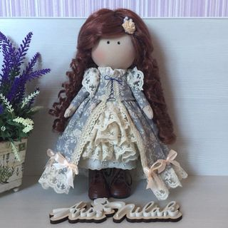 Carolina - interior handmade doll