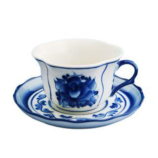 A couple of tea Buttercup 2nd grade, Gzhel Porcelain factory