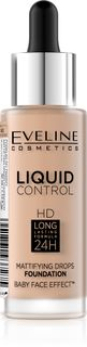 Innovative liquid Foundation No. 040 - warm beige series liquid control, Eveline, 32 ml