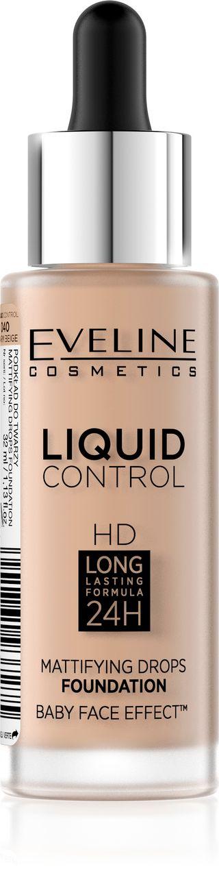Innovative liquid Foundation No. 040 - warm beige series liquid control, Eveline, 32 ml