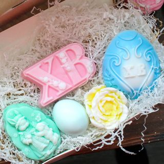 Handmade soap gift set Easter - mix of colors