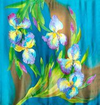 Shawl 'Irises'