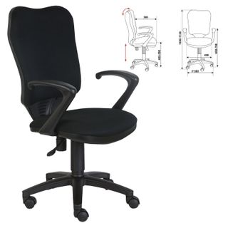 Chair CH-540AXSN, with armrests, black