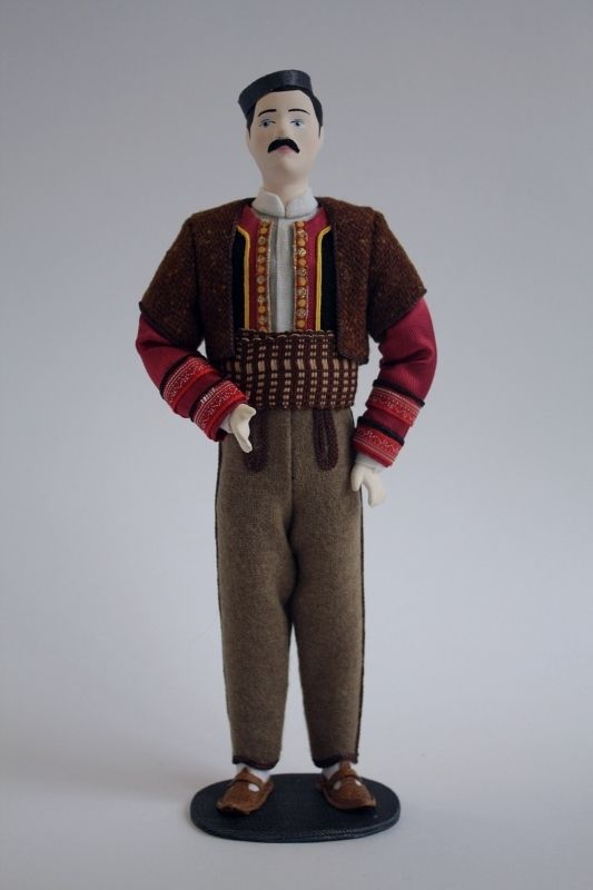 Doll gift. Male costume. Macedonia