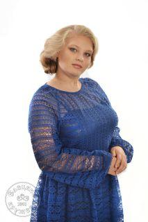 Dress womens blue lace