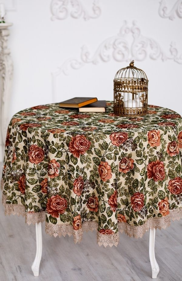 Tablecloth with lace Milan