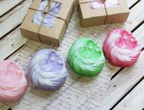 Handmade soap of the Month New Year - mix colors