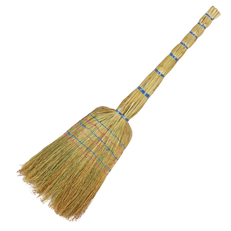 LYUBASHA / Sorghum broom 6-stitched PREMIUM, 400-440 g, panicle width 30-35 cm, length 79 cm
