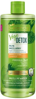 Hydrating micellar water for dry skin, contains broccoli and pumpkin, VEGE DETOX, BIELENDA, 500 ml