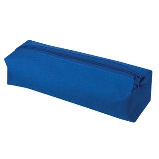Pencil case-tube PYTHAGORAS zipper, textile, blue, 20х5 cm