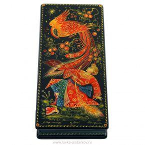 Kholuy lacquer art miniature Firebird Casket
